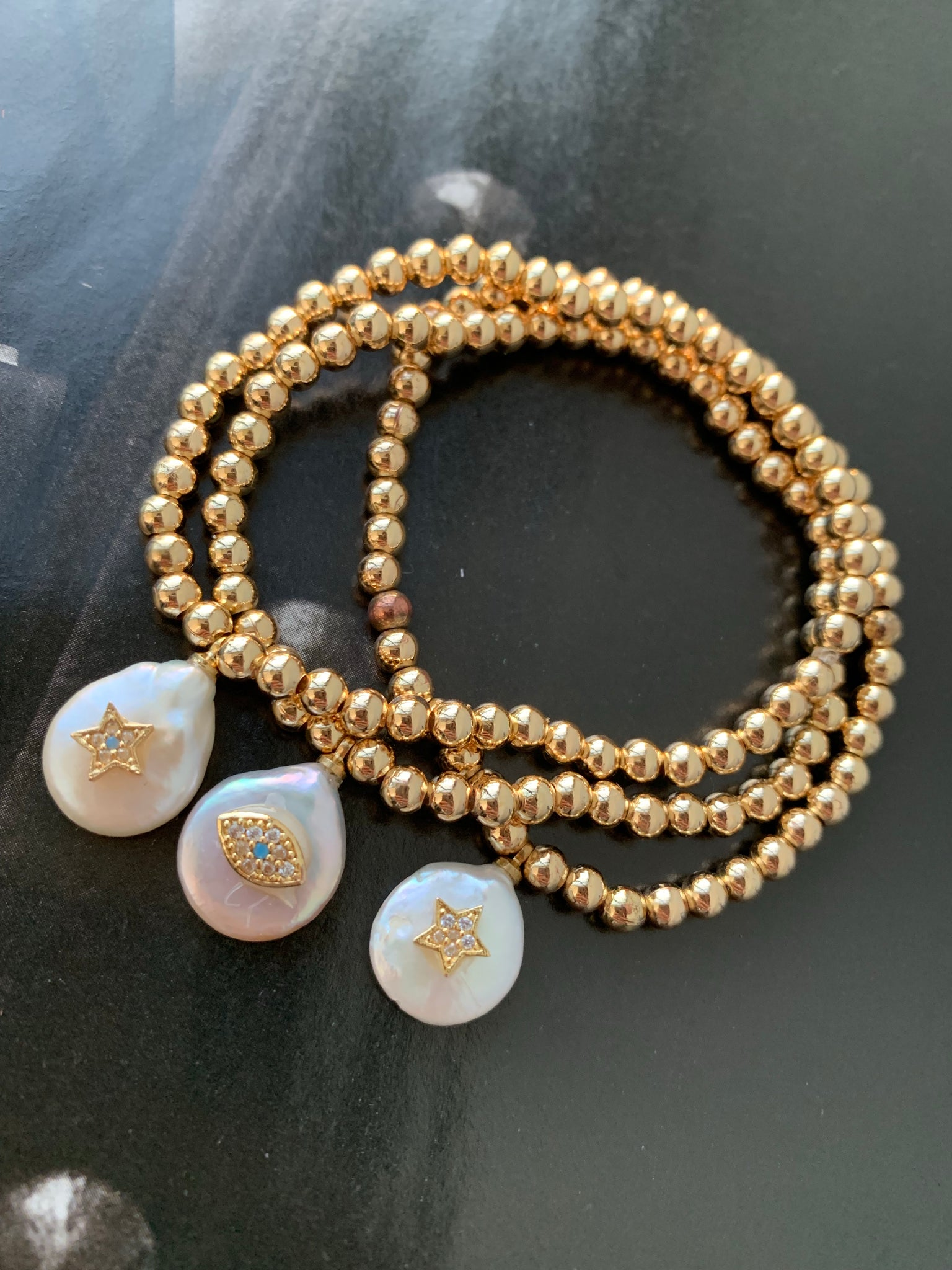 Gold Plated Beaded Bracelets