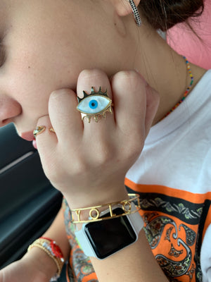 Nacre Eye Ring