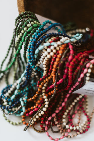 Six Strand Beaded Necklace