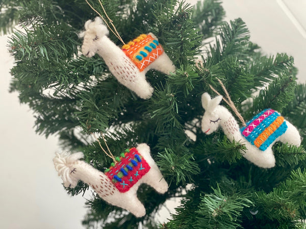Felted Wool Holiday Ornaments
