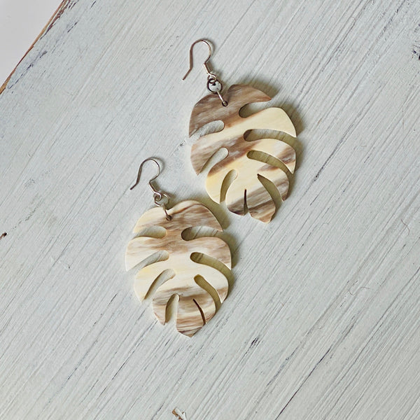 Boho Ankole Horn Earrings