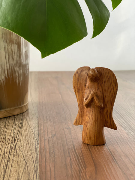 Hand Carved Mugavu Wood Angel