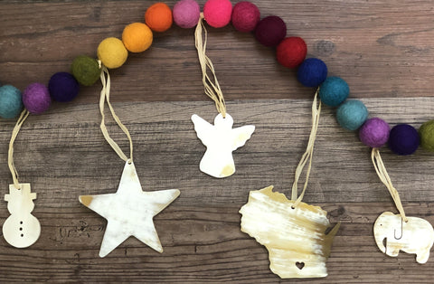Ankole Horn Christmas Ornaments