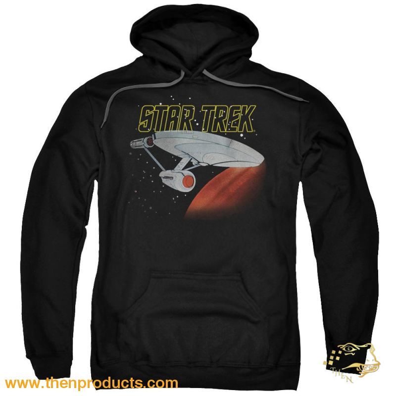 Star Trek - Retro Enterprise Adult Pull Over Hoodie