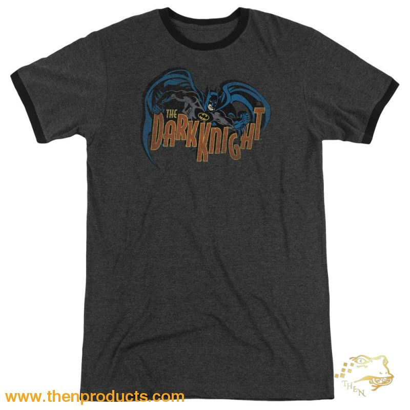 Batman - Retro Dark Knight Adult Heather - Then Products