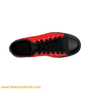 Ariel (LOG) Men's Sneakers (Red) - Then Products
