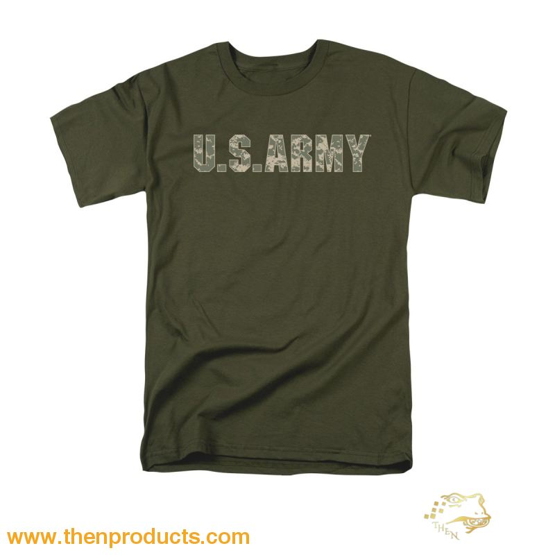Army - Camo Short Sleeve Adult 18/1 - Then Products