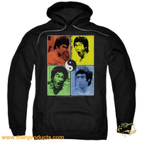 Bruce Lee - Enter Color Block Adult Pull Over Hoodie - Then Products