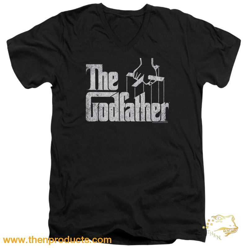 Godfather - Logo Short Sleeve Adult V Neck