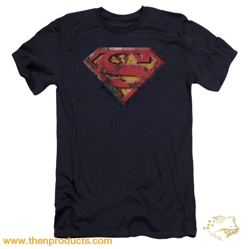 Superman - Rusted Shield Premium Canvas Adult Slim Fit 30/1