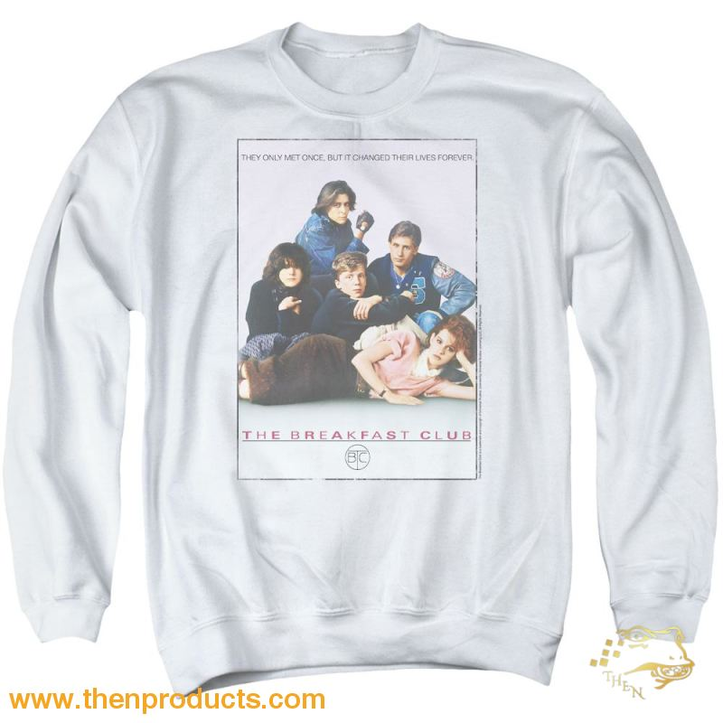 Breakfast Club - Bc Poster Adult Crewneck Sweatshirt - Then Products