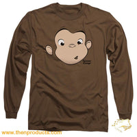 Curious George - George Face Long Sleeve Adult 18/1 - Then Products