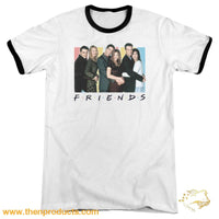 Friends - Cast Logo Adult Ringer