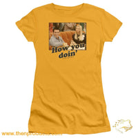Friends - How You Doin Short Sleeve Junior Sheer