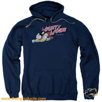 Mighty Mouse - Retro Adult Pull Over Hoodie