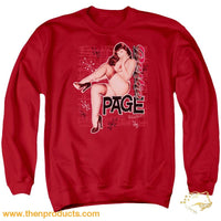 Bettie Page - Retro Hot Adult Crewneck Sweatshirt - Then Products