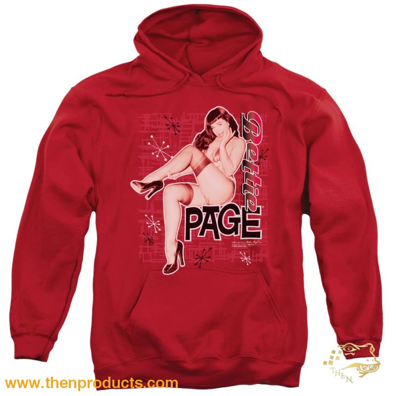 Bettie Page - Retro Hot Adult Pull Over Hoodie - Then Products
