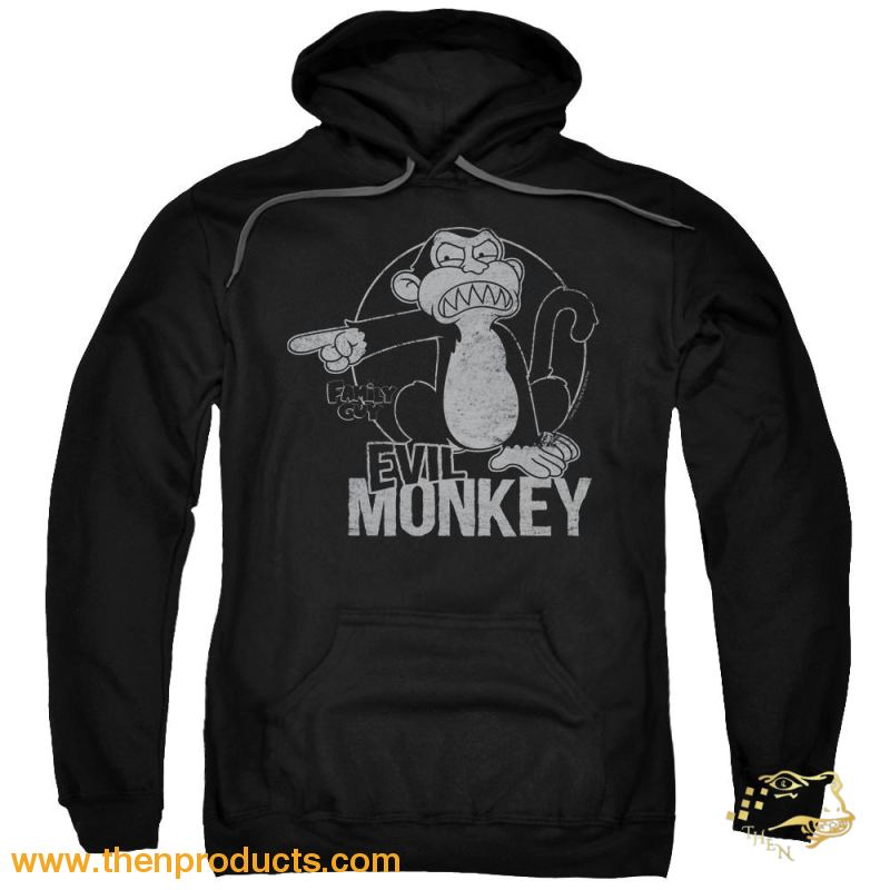 Family Guy - Evil Monkey Adult Pull Over Hoodie - Then Products