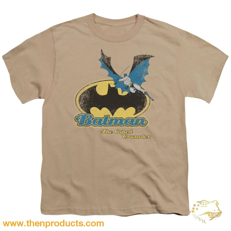 Batman Caped Crusader Retro Short Sleeve Youth 18/1 - Then Products