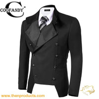 COOFANDY Double Breasted Button Suit Jacket - Then Products