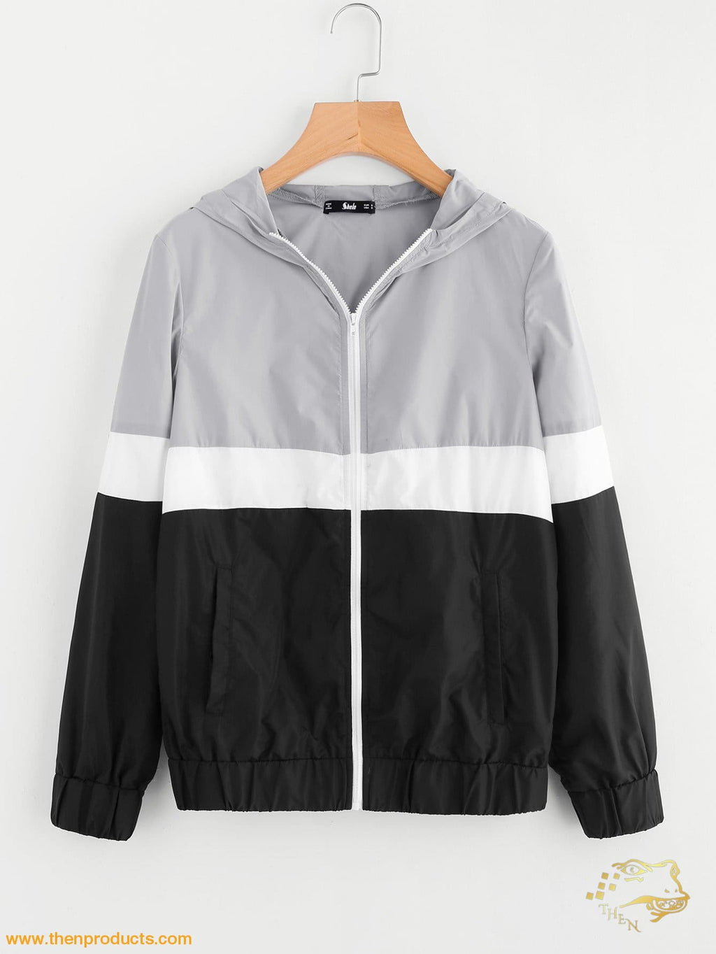 Cut And Sew Hoodie Windbreaker Jacket - Then Products
