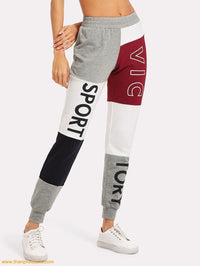 Cut And Sew Print Sweatpants - Then Products