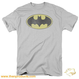 Dc - Retro Bat Logo Distressed Short Sleeve Adult 18/1 - Then Products
