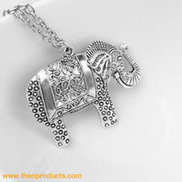 Elephants Pendant Necklace - Then Products