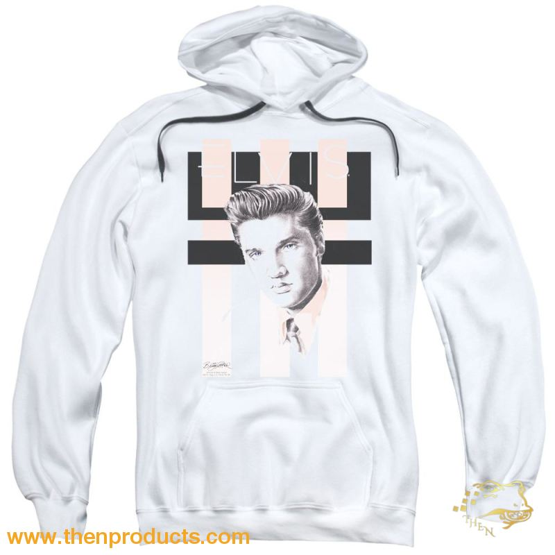 Elvis - Retro Adult Pull Over Hoodie - Then Products