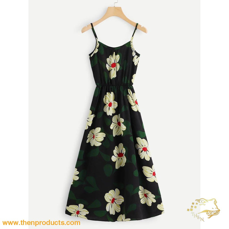 Floral Print Cami Dress Women - Apparel Dresses Casual