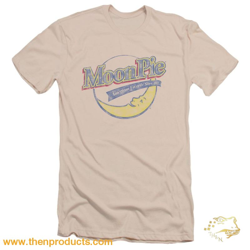 Moon Pie - Distressed Retro Logo Short Sleeve Adult 30/1