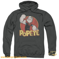 Popeye - Retro Ring Adult Pull Over Hoodie