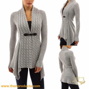 Womens Outwear Fashionable Cardigan Sweater Long Sleeves