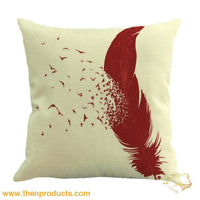 Feather Sofa Bed Home Decoration Pillow Multicolor / A Trinket - Decor