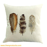 Feather Sofa Bed Home Decoration Pillow Multicolor / D Trinket - Decor