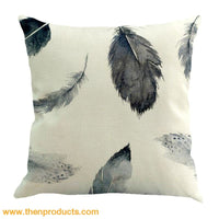 Feather Sofa Bed Home Decoration Pillow Multicolor / B Trinket - Decor
