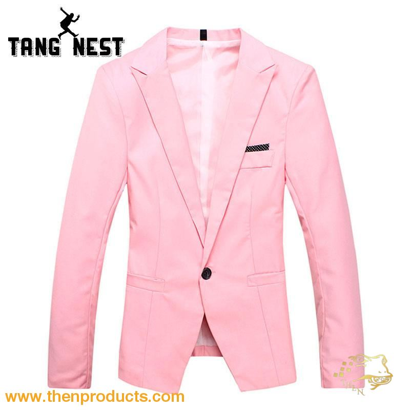 Tangnest Blazer Masculino 2018 Spring Gentleman One Button Casual Style Male Blazers 7 Colors