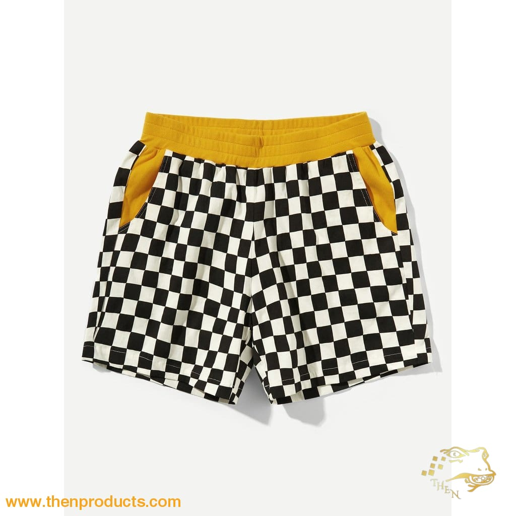 Racer Men Mustard Waist Elastic Pocket Shorts
