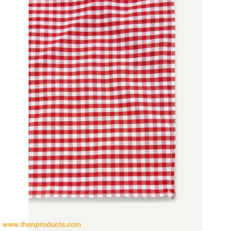 Red Gingham Pattern Bandana