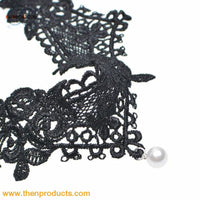 Susenstone Lace Chokers Necklaces Fashion Women Pendant Necklace Choker Chains Charm - Jewelry