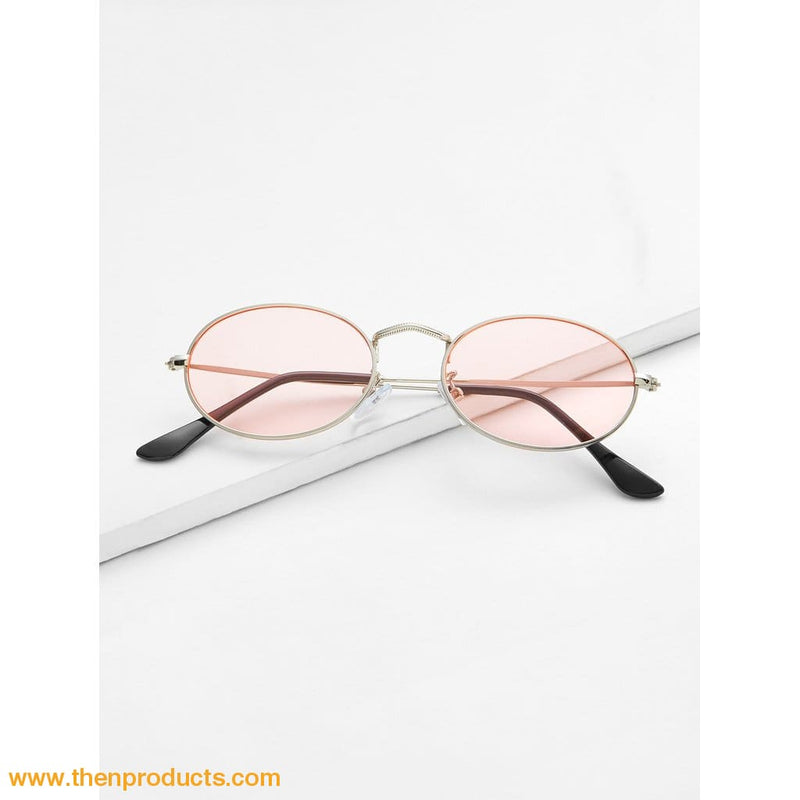 Tinted Oval Sunglasses