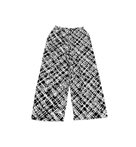 Maya Black & White Print Pants