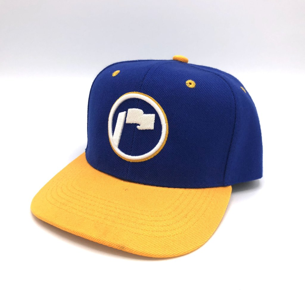 Repyasoil Snapback Blue Yellow Gold White