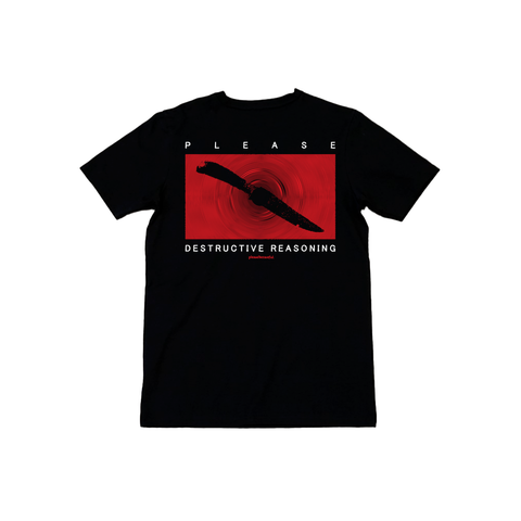 """Destructive Reasoning"" Black Pigment-Dyed Shirt"