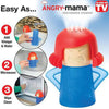 Image of Angry Mama Microwave Oven Steam Cleaner (cleans easily with vinegar and water)