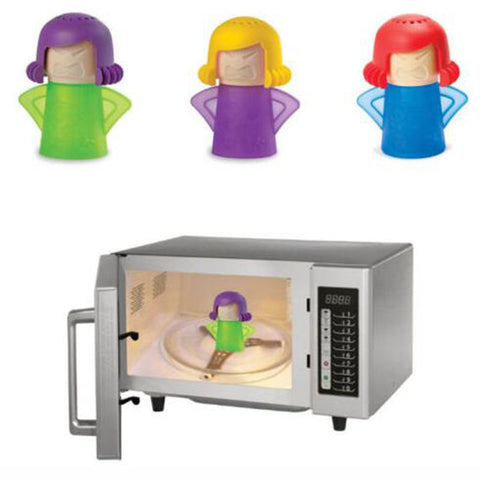 Angry Mama Microwave Oven Steam Cleaner (cleans easily with vinegar and water)
