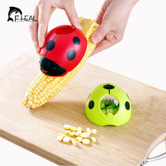 Creative Ladybug Hand Corn Stripper - Stainless Steel