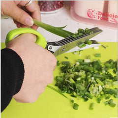 Stainless Steel 5 Layers Blade Scissors for Multi Functional Kitchen Cutting Purposes