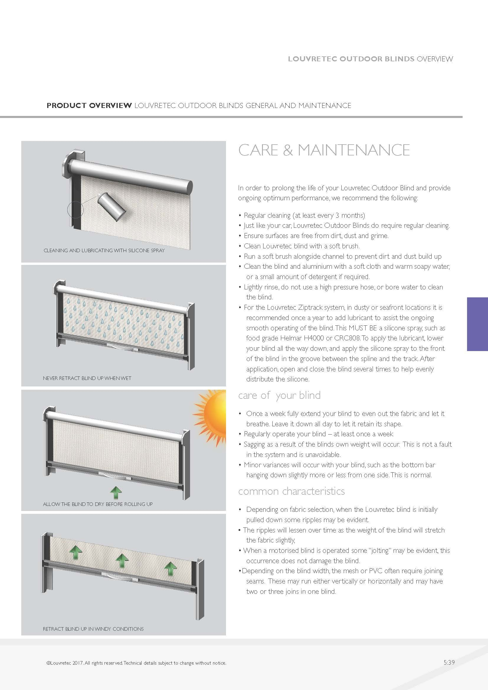 Care & Maintenance  5.39