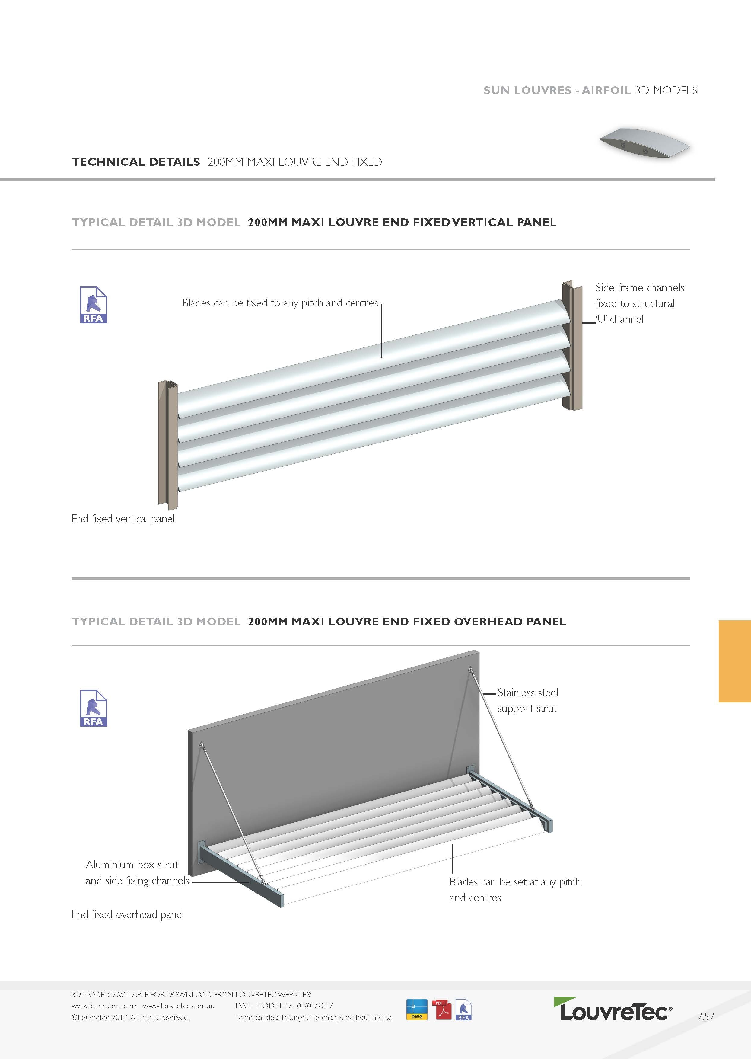 200mm End Fixed Panel Horizontal Config | 7.57